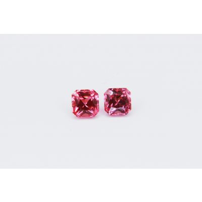 Redish Pink Spinel Octagon pair 1.3 ct.5mm PSPIN0035A