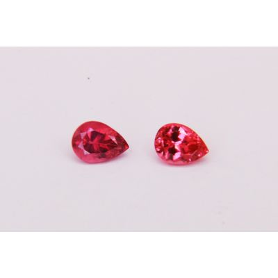 Redish Pink Spinel Pair Pear shape 7 x 5mm 1.86CTS PSPIN0035C