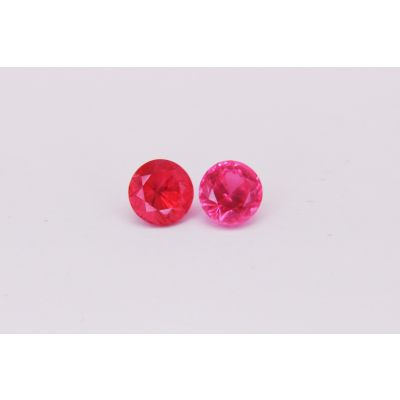 Redish Pink Spinel Round Pair 1.93cts 5.5mm PSPIN00035B