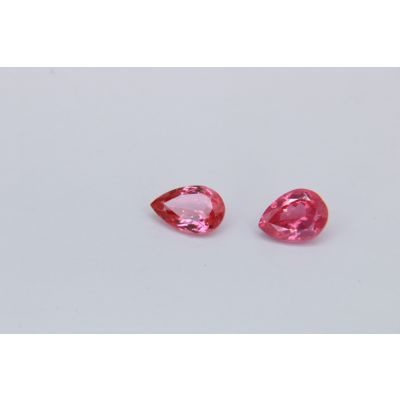 Redish Pink spinel pear Pair 2.02ct 8x6mm PSIN 0035D