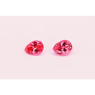Redish Pink spinel Pear shape Pair 2.22 cts PSPIN0035F
