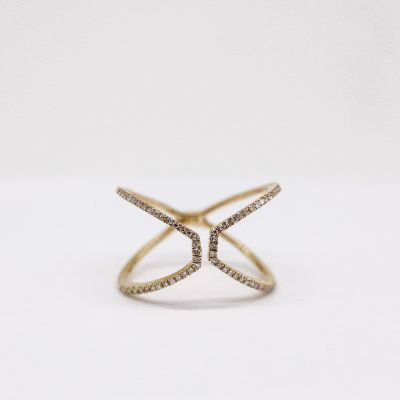 Diamond ring Yellow gold GWDR012