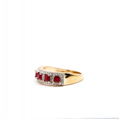 Ruby and Diamond Yellow gold ring GWDR86366