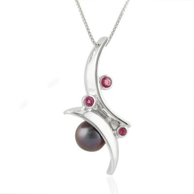 Fresh Water Pearl and Ruby pendant GWP86397
