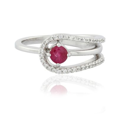 Ruby and Cubic Zirconia ring GWR86365