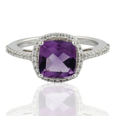 Amethyst Sterling silver ring GWR88528 size 7