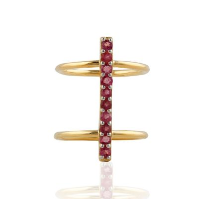 Pink Tourmaline Sterling silver ring GWR86378