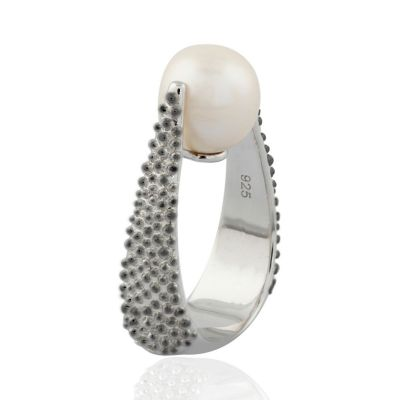 Fresh water Sterling silver Pearl ring GWR86382