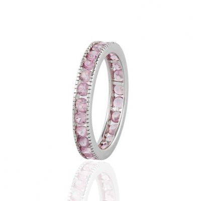 White gold Pink Sapphire Eternity band GWR90547