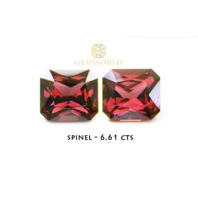 Spinel Pair Purple Red 6.61 cts SSS004